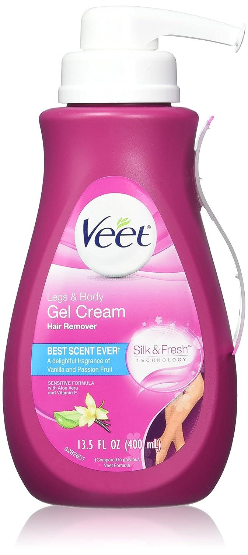 Veet Silk & Fresh, Hair Removal Cream, Legs & Body, Sensitive Formula, 400 ml 62200809951