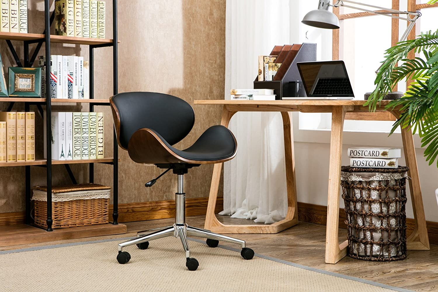 Porthos Home Rylan Office Chair a Classy Executive Office Chair, with 5 Easy Glide Caster Wheels Height Adjustable, 360-degree Swivel, Fabulous Home Office Chair Size 24 x 23 x 35 inches