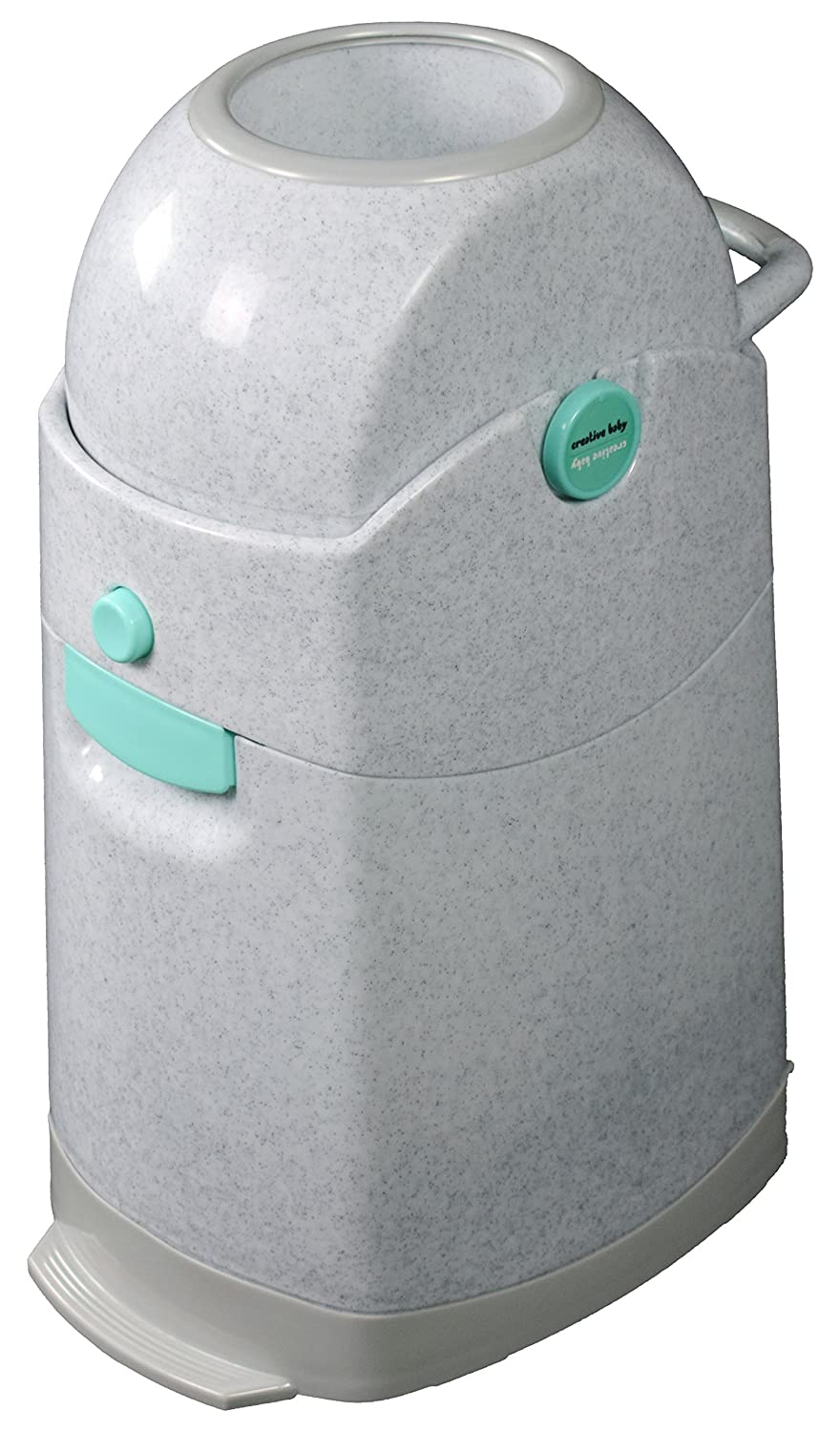Creative Baby Tidy Diaper Pail, Marble, Marble/Blue/Gray, One Size CSDDP-002