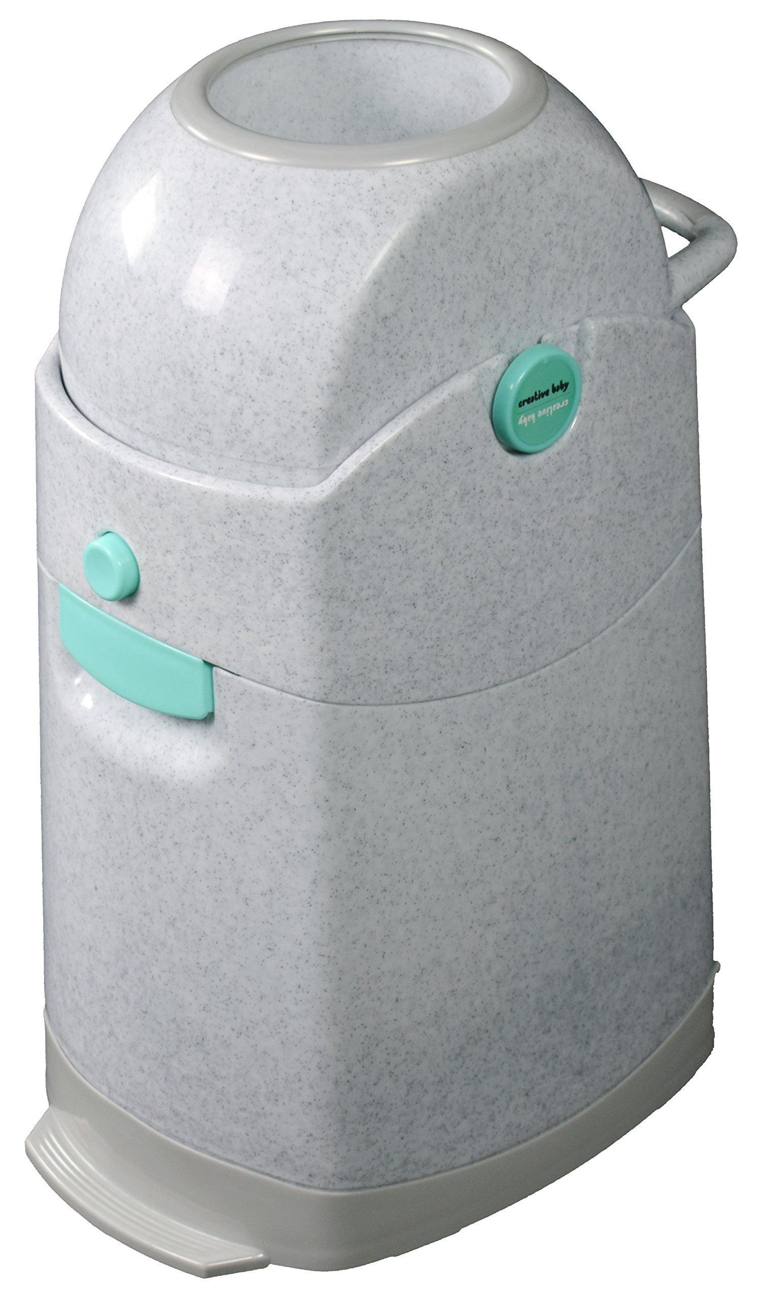 Creative Baby Tidy Diaper Pail, Marble, Marble/Blue/Gray, One Size