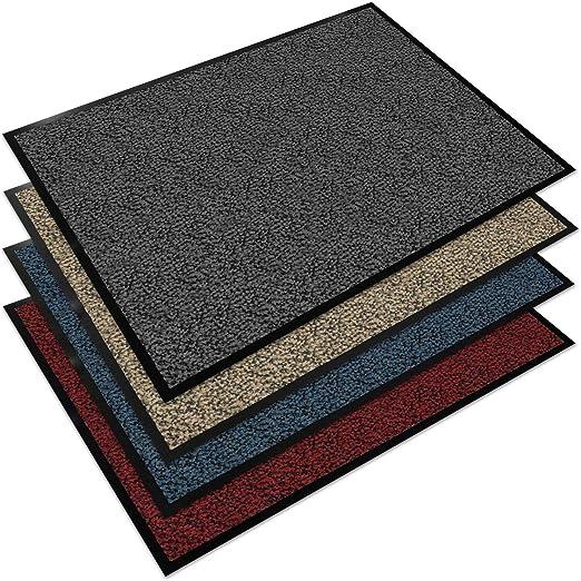 waschbar Beige, 50 x 80 cm in 6 Farben erh/ältlich Indoor//Outdoor Matte Floordirekt Schmutzfangmatte Sauberlaufmatte Fu/ßmatte