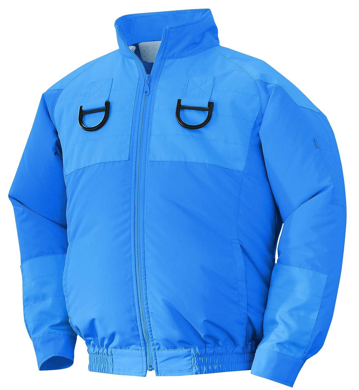 NSP 空調服フルハーネス用 服単体 チタンコーティング 立ち襟 ブルー 2L 8208502 B01D4BW572 2L