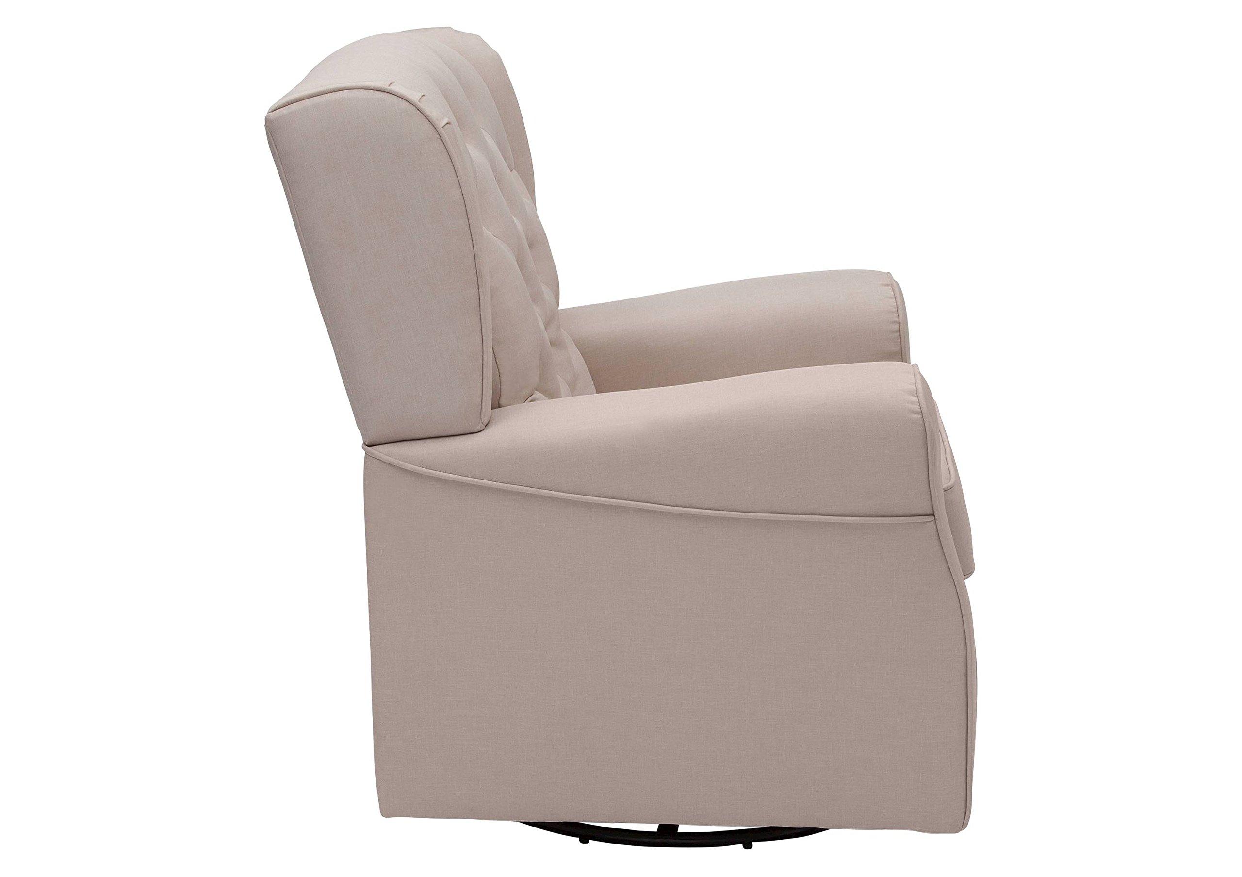 Delta Children Emma Nursery Glider Swivel Rocker Chair - Flax