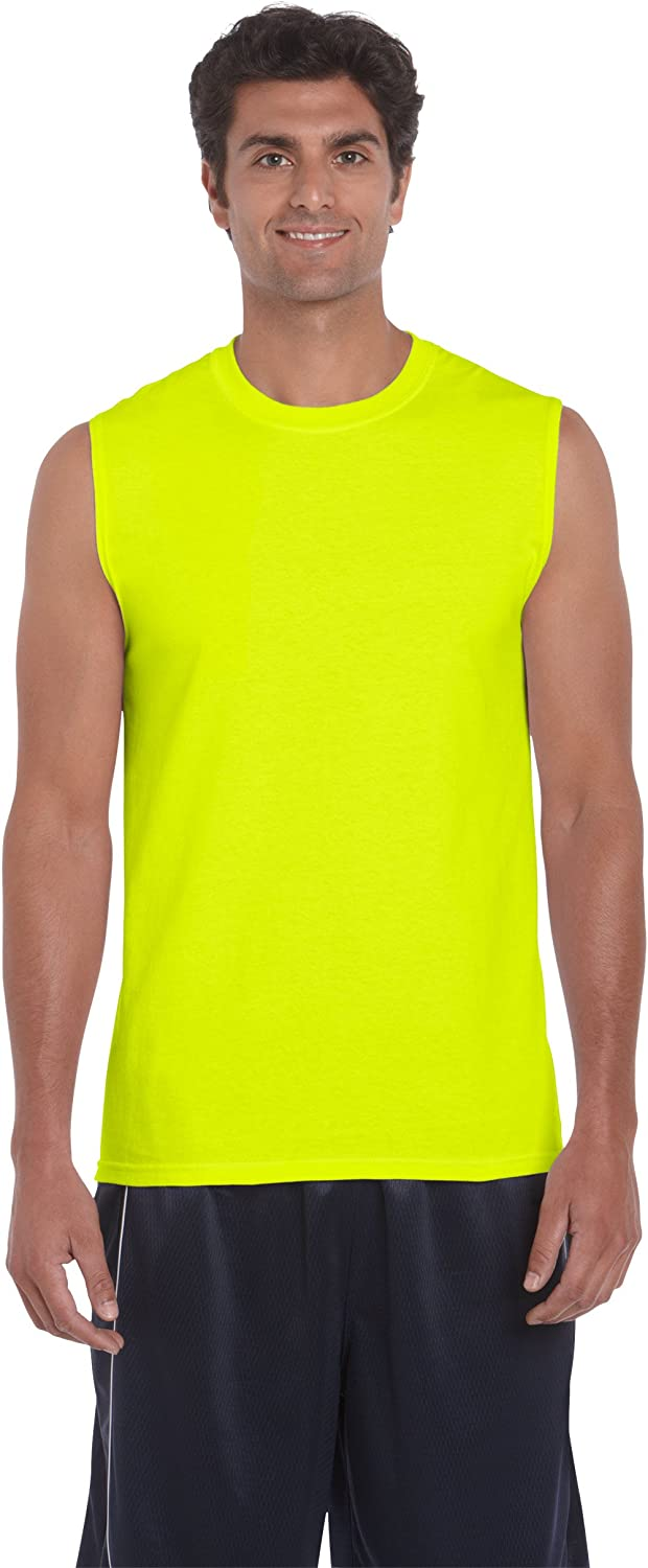 Gildan 2700 - Classic Fit Adult Sleeveless T-Shirt Ultra Cotton - First Quality - Safety Green - X-Large