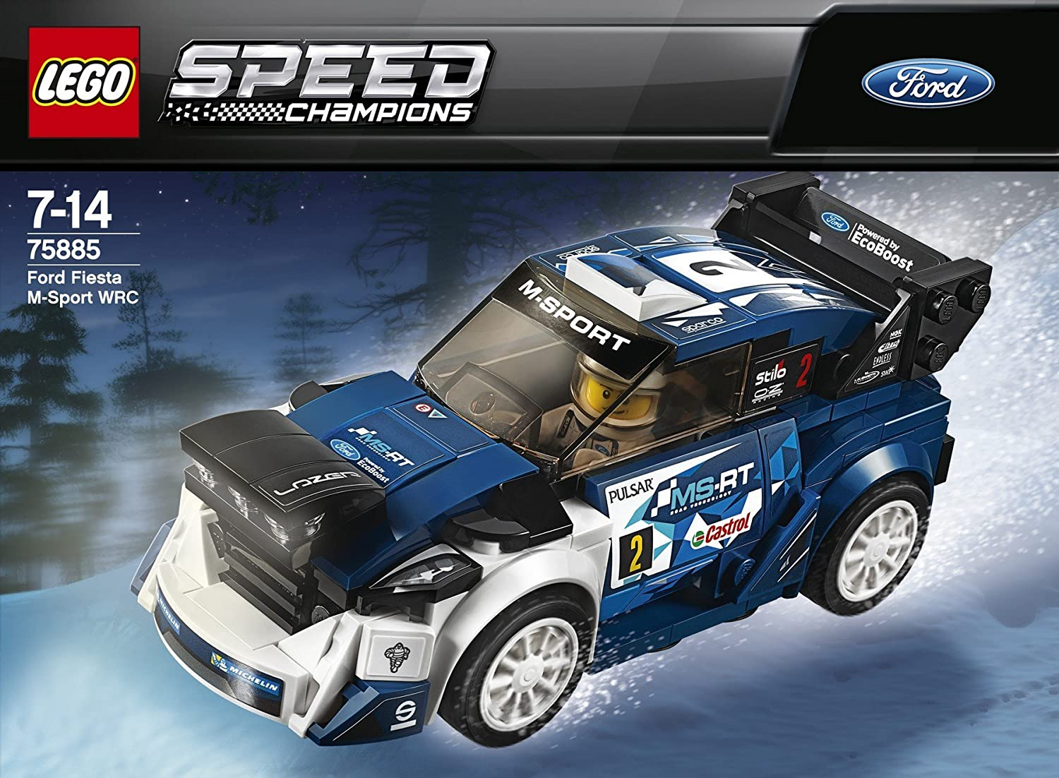 Amazon.com: Lego Speed Champions 75885 Ford Fiesta M-Sport WRC: Toys & Games