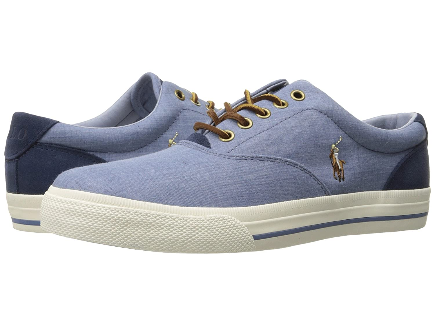 [Polo Ralph Lauren(ポロラルフローレン)] メンズカジュアルシューズスニーカー靴 Vaughn Blue/Indigo End Canvas/Sport Suede 9 (27.5cm) M B07DC7HGTF