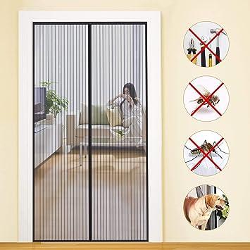MYCARBON Mosquitera Puerta Magnetica Corredera Cortina Mosquitera Magnética para Puertas Cortina de Sala de Estar la Puerta del Balcón Puerta Corredera de Patio (90*210cm): Amazon.es: Bricolaje y herramientas