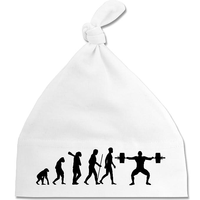 Shirtracer Evolution Baby - Gewichtheber Evolution - Unisize - Weiß ...
