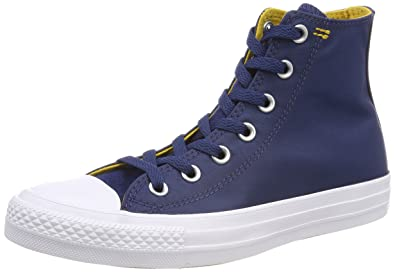 7979a14f15ad80 Image Unavailable. Image not available for. Color  Converse Chuck Taylor  All Star Hi Fashion Sneakers Navy Mineral Yellow White ...