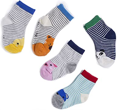 Amazon.com: Children's socks Lovely assorted animal kids socks (Small (Ages  1-3), A (5 pairs)): Clothing