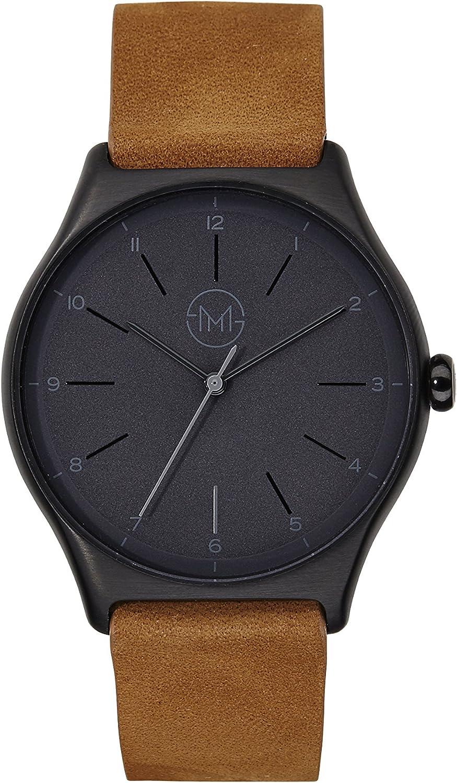 slim made one 06 - Extra slim unisex watch in black/brown