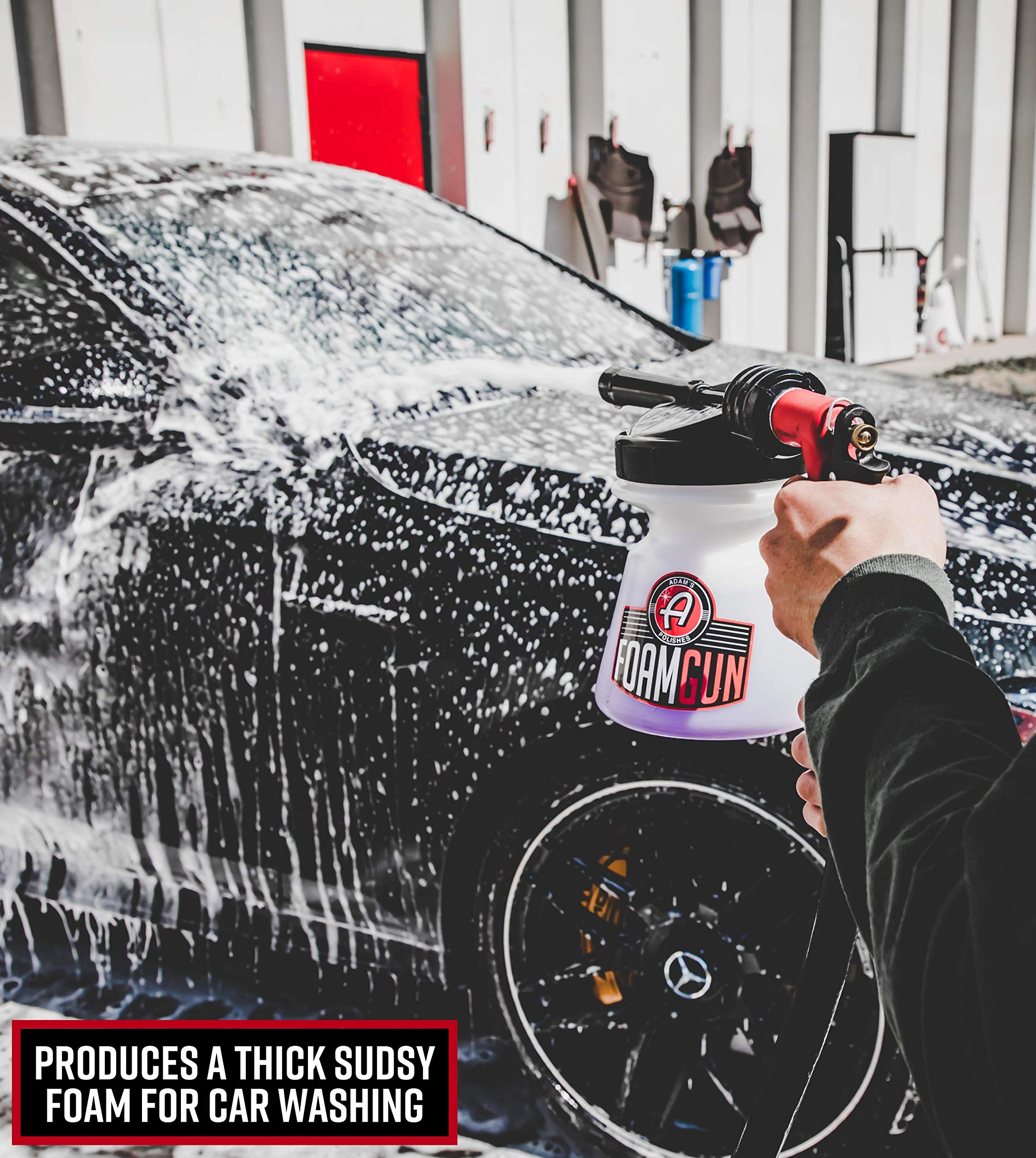 Adam's Foam Gun & Ultra Foam Gallon - Use with Any Car Wash Soap & Garden Hose for Thick Suds - Detailing Tool Does Not Require Pressure Washer & Won't Remove Wax Sealant by Adam's Polishes (Image #2)