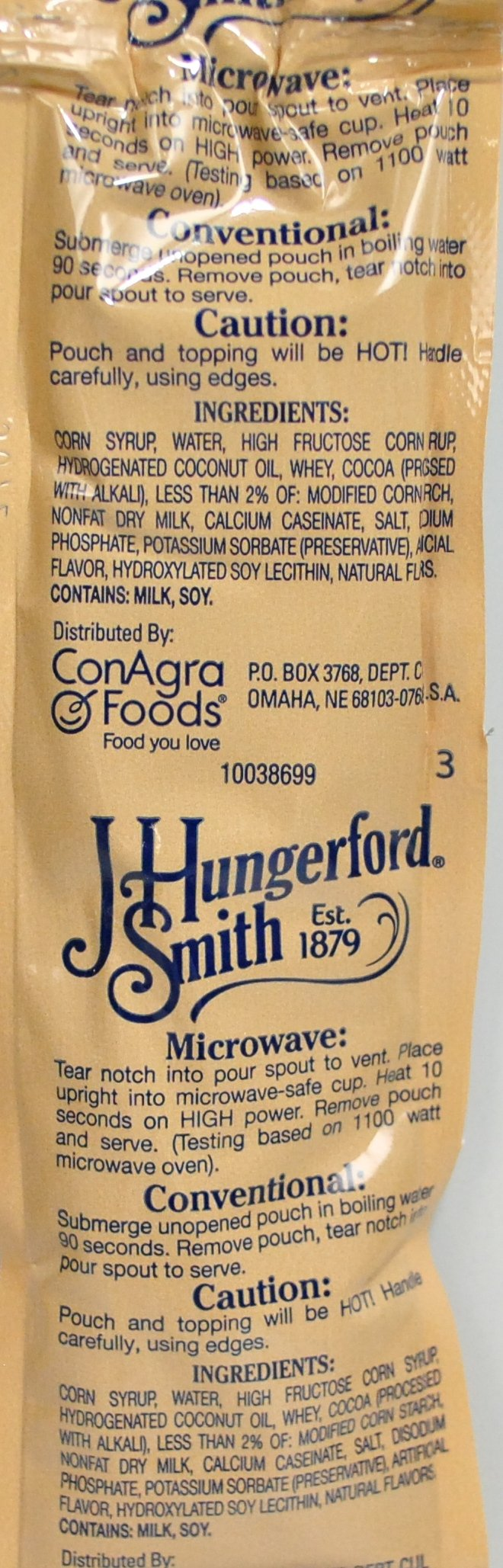 J. Hungerford Smith Chocolate Fudge Topping (box of 96) by J. Hungerford Smith