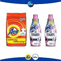 Ace Detergente en Polvo 6 kg + Downy Floral Suavizante 800 ml cada uno