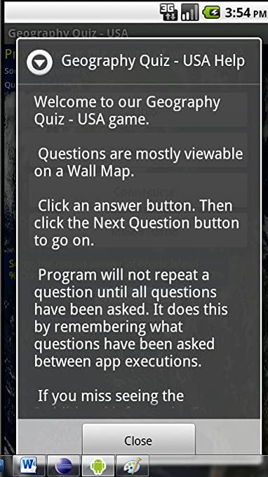 Amazon.com: Geography Quiz: USA: Appstore for Android