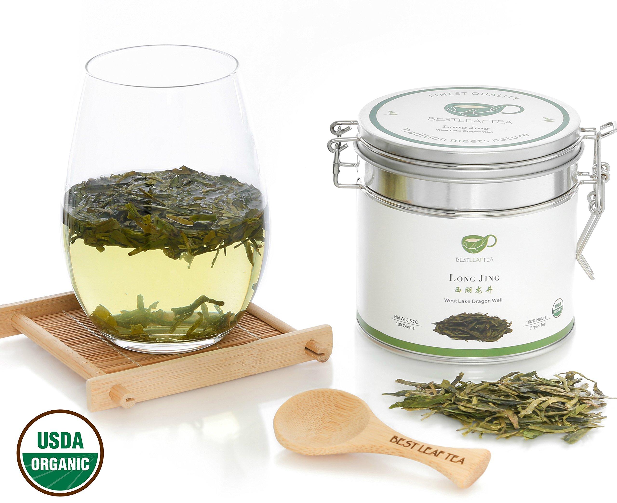 BESTLEAFTEA- 2018 Spring Picked Organic DragonWell/Longjing Green Tea 3.5Oz/100g