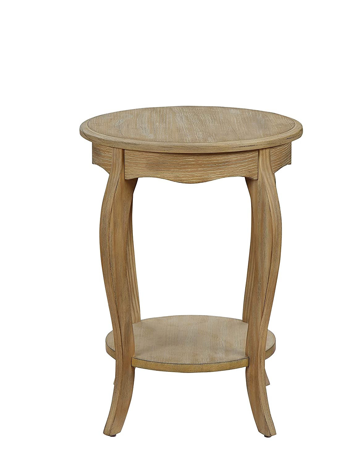 Acme Furniture 84525 Moraes Weathered White Side Table