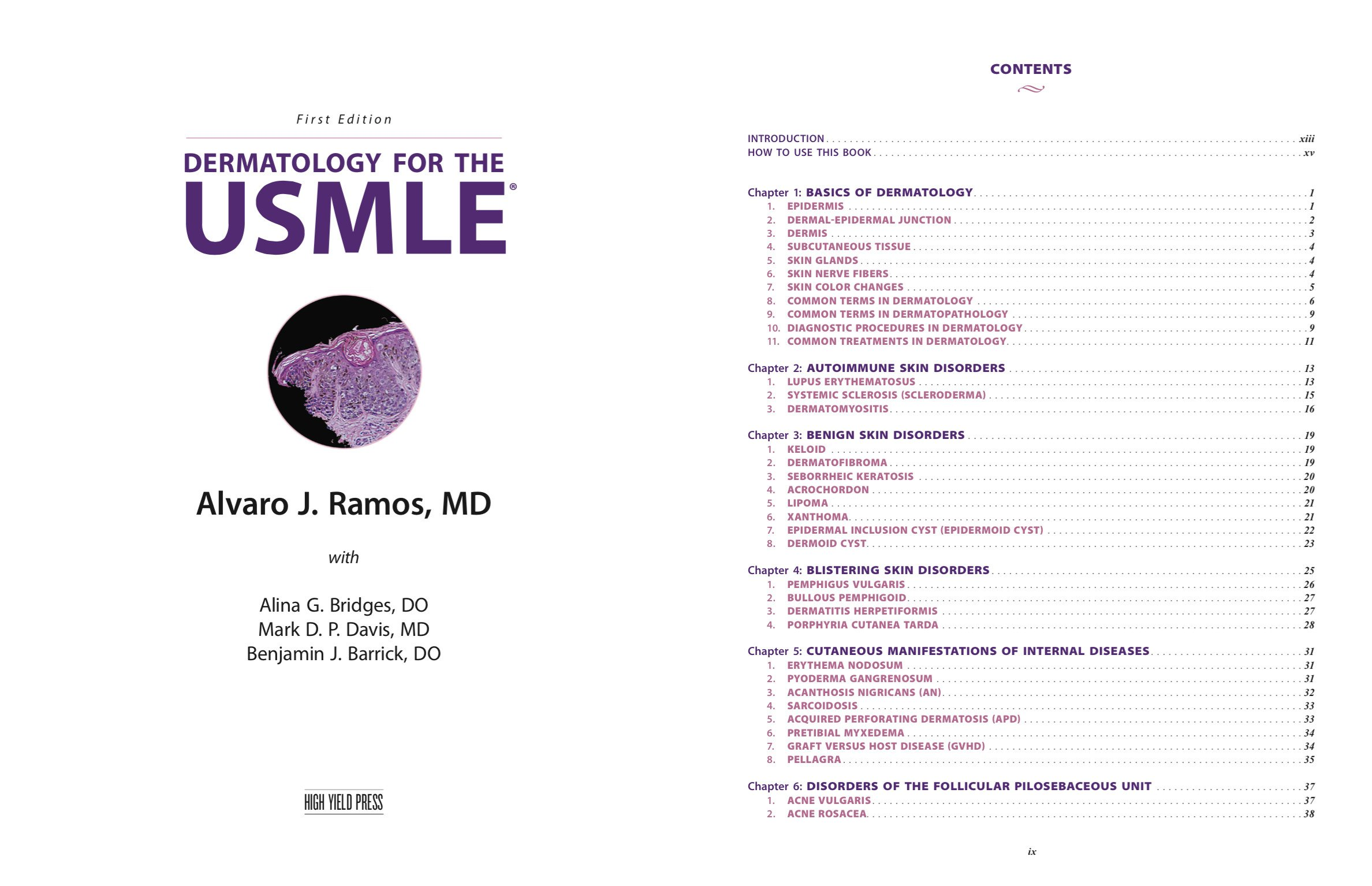 Dermatology For The Usmle Alvaro J Ramos Md 9780692525296