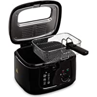 LIVIVO Electric 2.5L Deep Fat Countertop Fryer Non-Stick Coating, Internal Mesh Basket with Safety Handle and Viewing Window Easy Clean