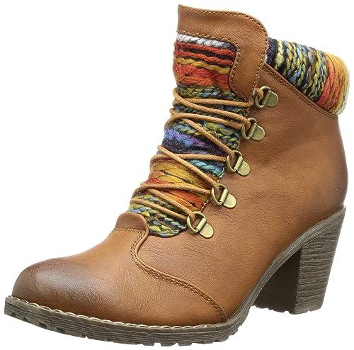 Rieker 95323 22 Damen Halbschaft Stiefel