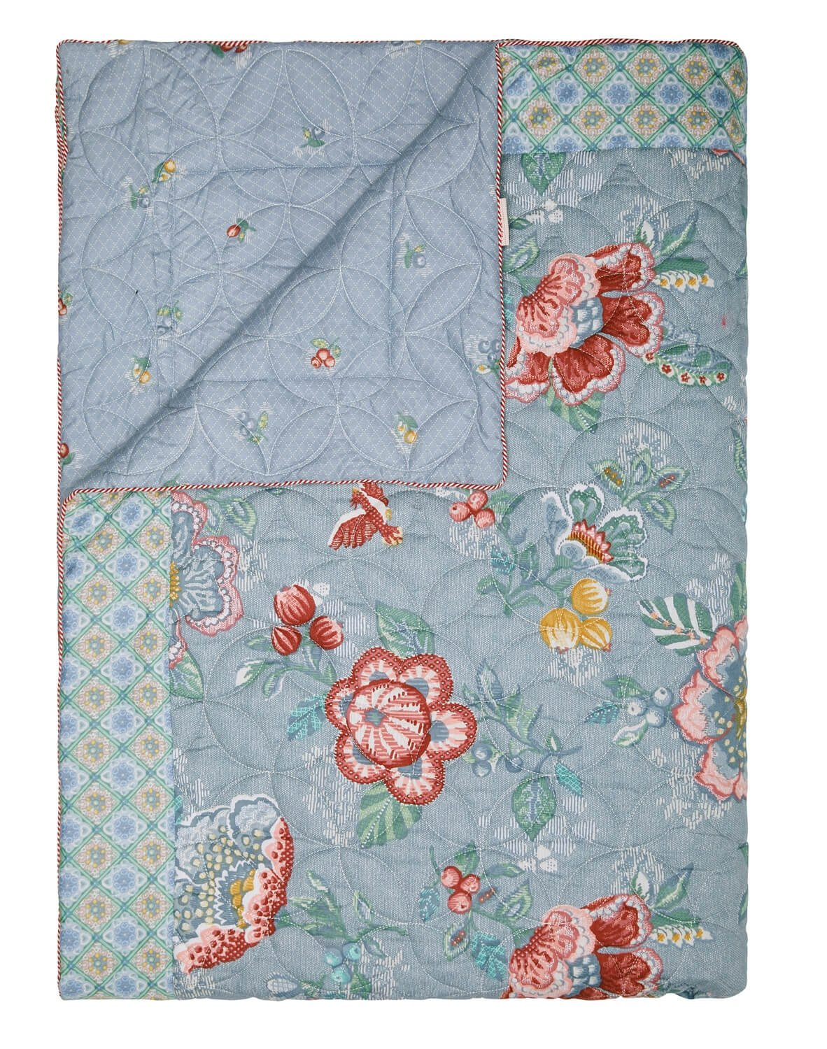 PiP Studio Quilt Berry Bird   blau - 180 x 260