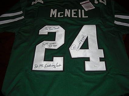 f3bc22eb3a3 Freeman McNeil Autographed Jersey - Full Stats coa - JSA Certified - Autographed  NFL Jerseys