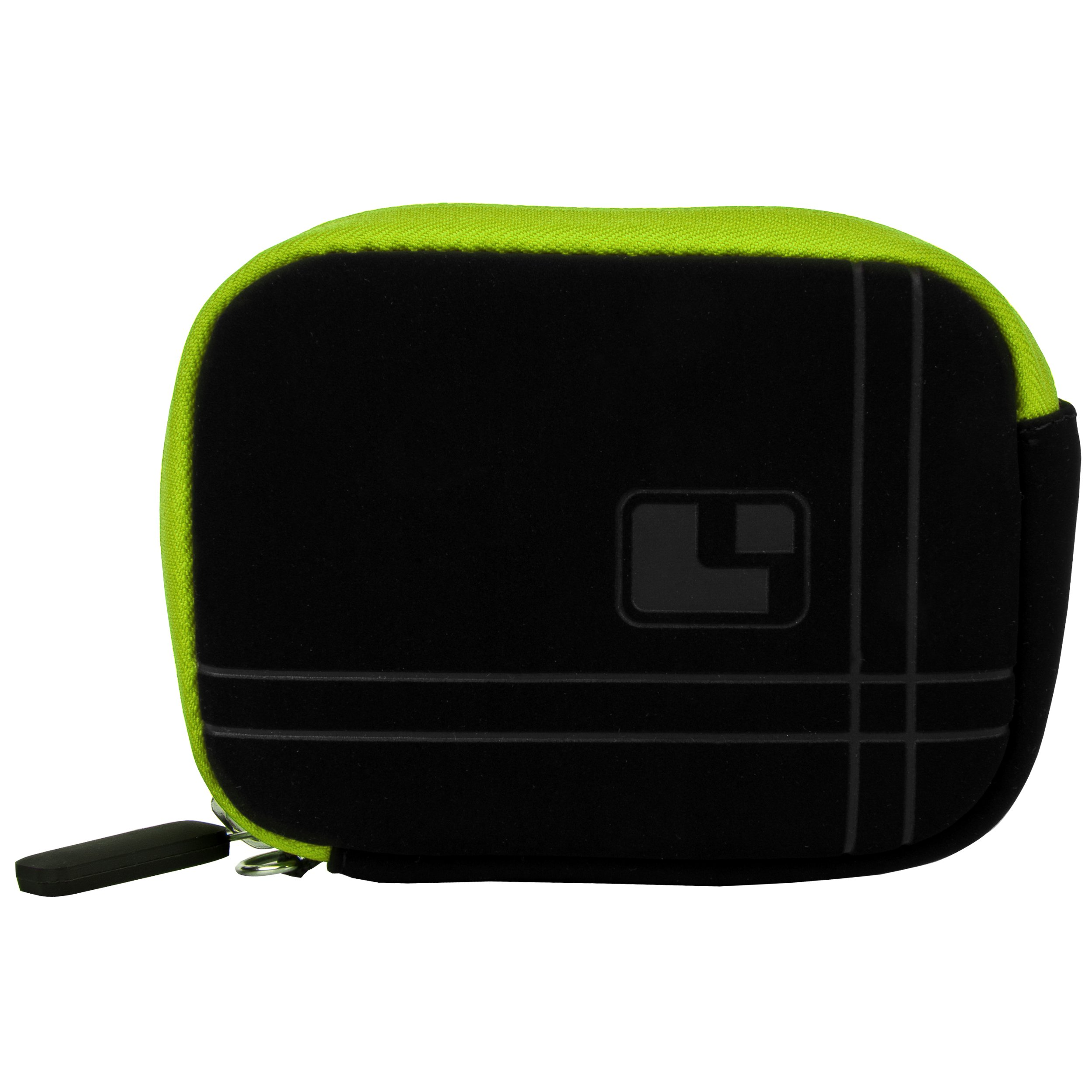 GREEN Travel Aero Bump Protection Slim Micro-Suede Carrying Sleeve Case For Canon PowerShot ELPH HS IXY IXUS IS