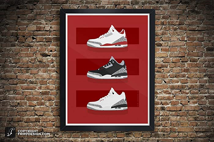 4d3c63f3ce579f Image Unavailable. Image not available for. Color  Air Jordan III (3)  Collection quot 3 Bars Design quot  - Best Seller Illustration