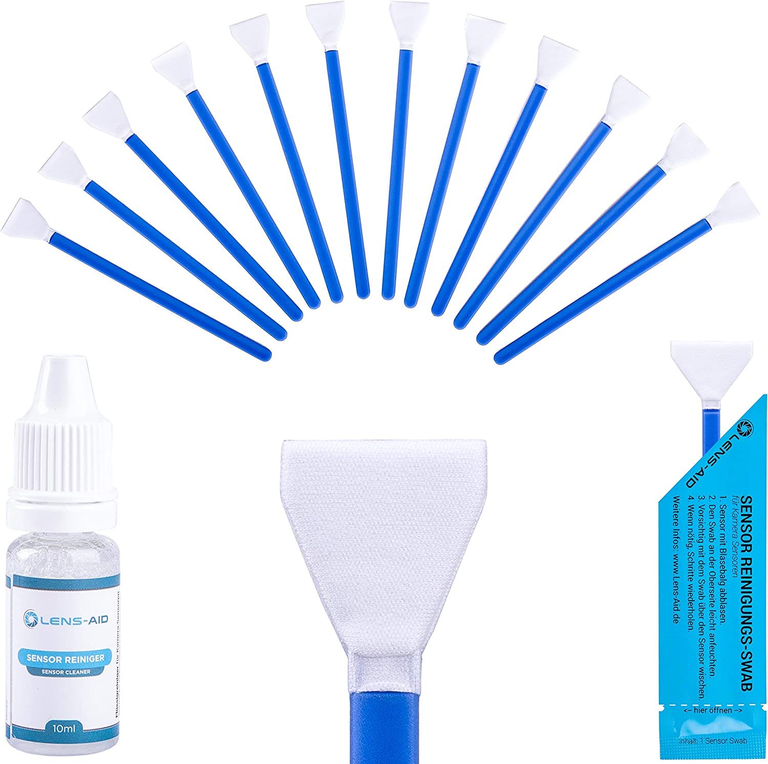 Lens Aid Sensor Cleaning Set With Swabs And Liquid Camera Photo