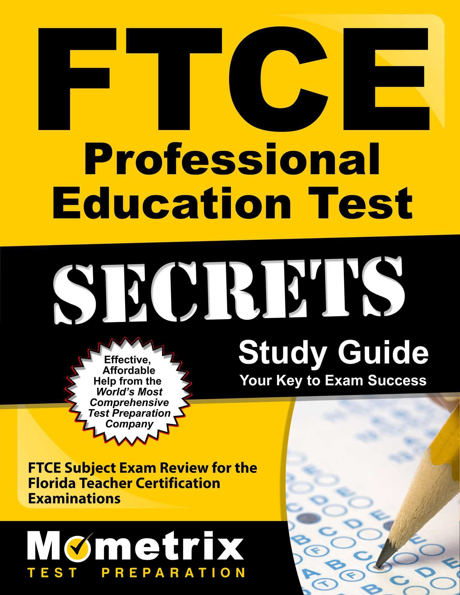 Ftce Professional Education Test Secrets Study Guide Ftce Subject