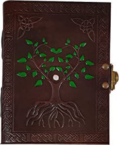 RUSTIC TOWN Handmade Vintage Antique Looking Genuine Leather Journal Diary Notebook for Men Women Gift for Him Her