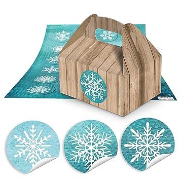 10 Kleine marrón aspecto de madera de cajas de regalo para regalos de Navidad (9