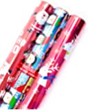 Hallmark Christmas Reversible Wrapping Paper (Foil Icons, 3 Pack)