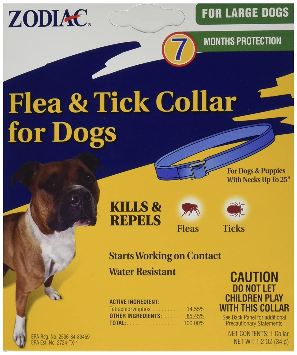 Amazoncom Zodiac Flea And Tick Collar For Large Dogs Pet Supplies