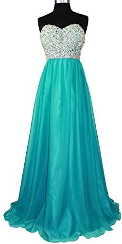 Meier Women's Strapless Beaded Bridesmaid Chiffon A-Line Gown