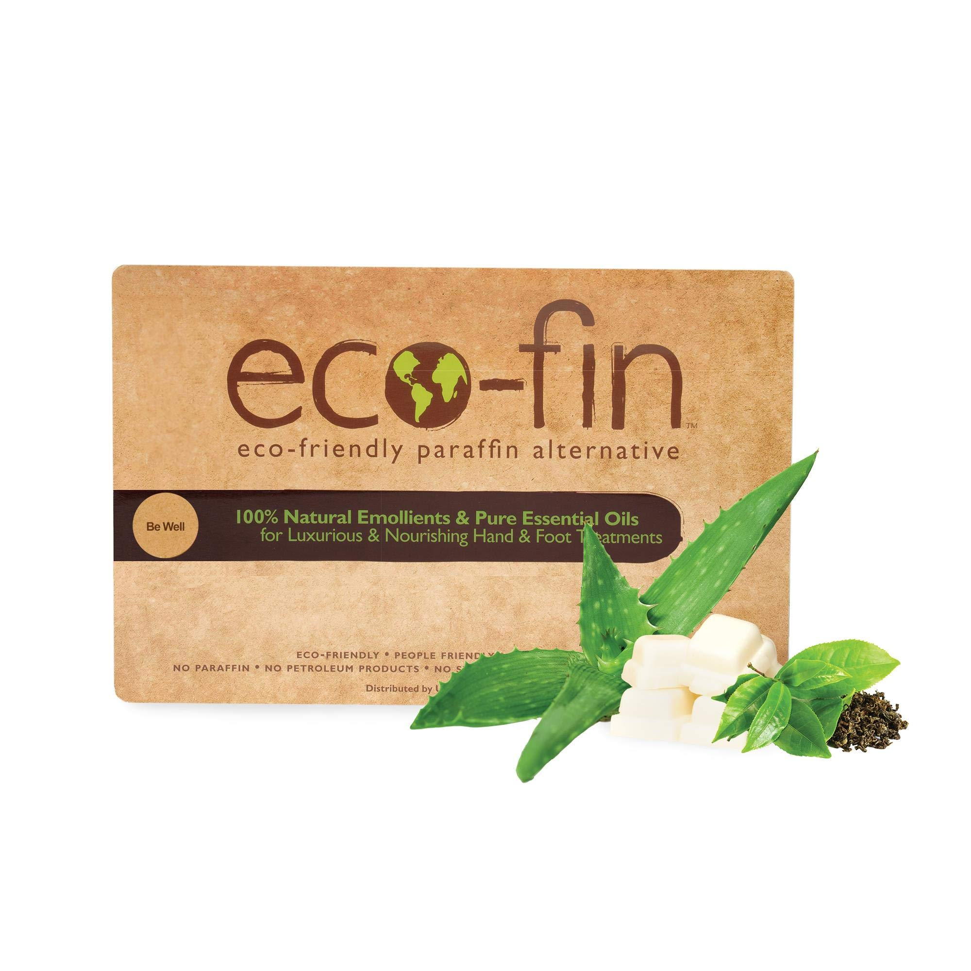 Eco-Fin Be Well Paraffin Wax Alternative   100% Plant-Based, Green Tea & Aloe Blend   40 Pc. Tray by eco-fin