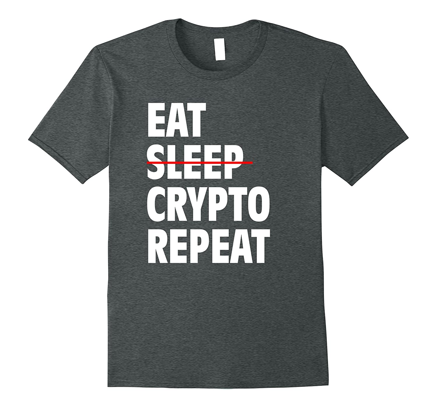 Sleep Cryptocurrency Repeat T Shirt Large-Awarplus
