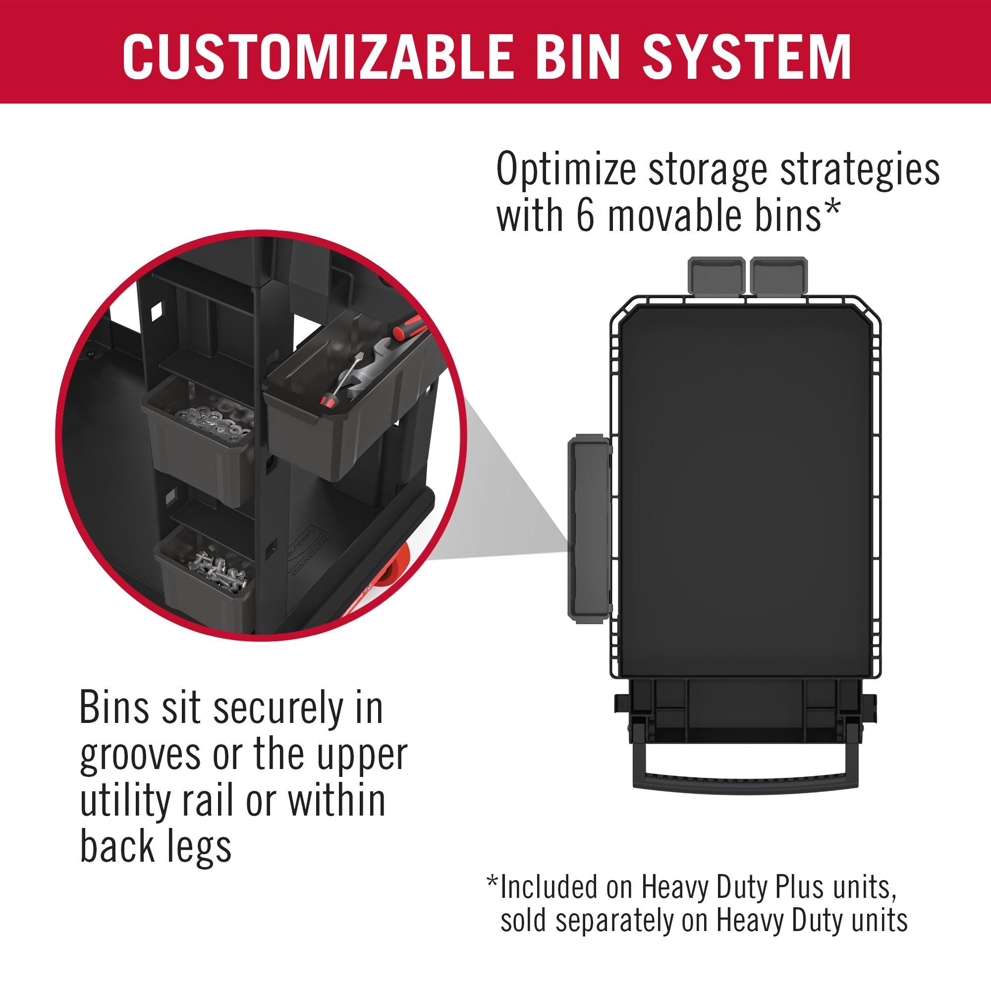 Suncast Commercial PUCHD1937 Utility Cart, Heavy Duty Plus 19 x 37, 500 Pounds Load Capacity, black by Suncast Commercial (Image #3)