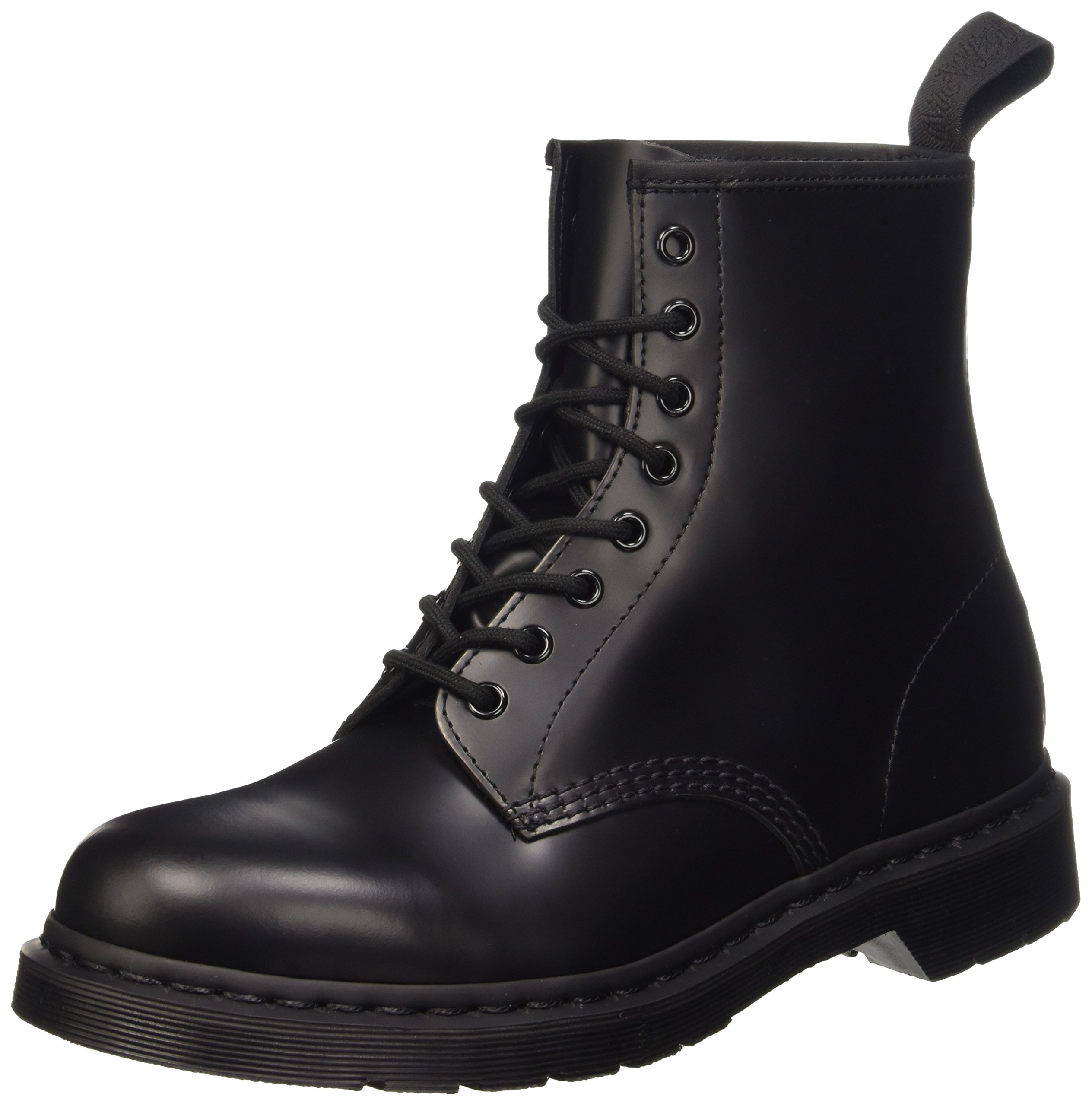 Dr. Martens Unisex 1460 8-Tie Lace-Up Boot,Black Smooth,UK 8 (US 9, 10) M US