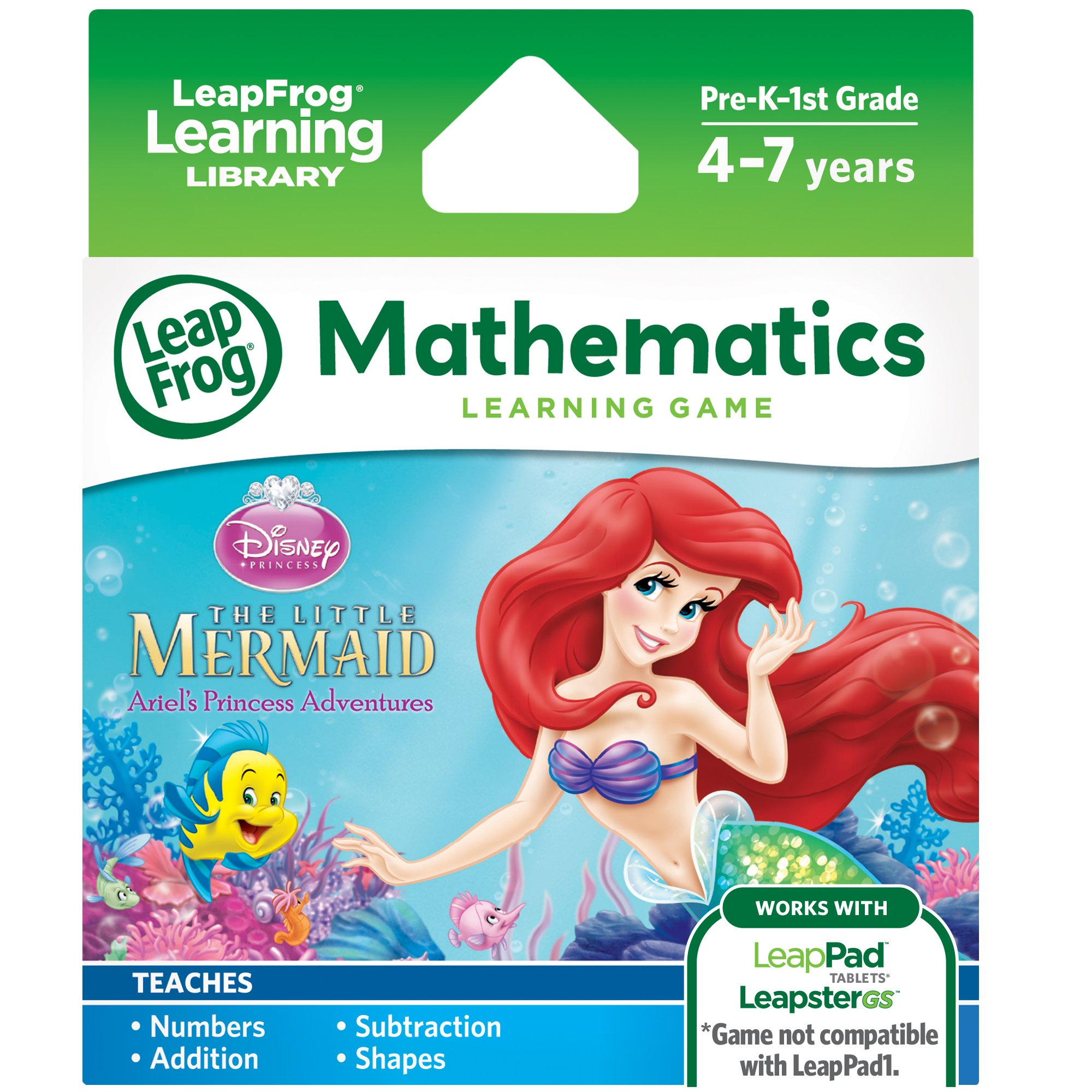 LeapFrog Disney The Little Mermaid Learning Game (for LeapPad Platinum, LeapPad Ultra, LeapPad2, LeapPad3, LeapsterGS Explorer) by LeapFrog