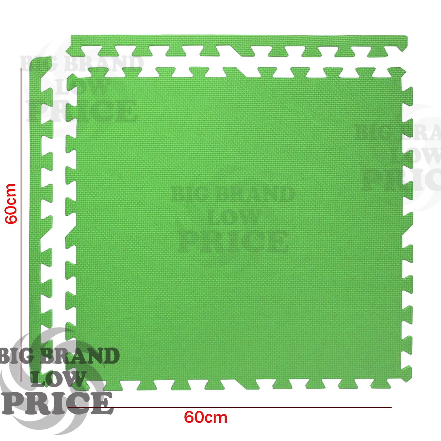 FB FunkyBuys/® 16Pcs Green Soft Interlocking Foam EVA Mat 64SQ.FT Covered Area Gym Exercise With Edges Tiles 60x60cm