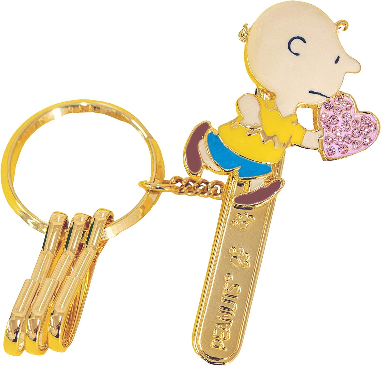 PEANUTS bag key clip Snoopy Charlie Brown Heart domestic been inspected regular article
