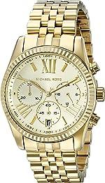 Michael Kors Women's Lexington Gold-Tone Watch MK5556