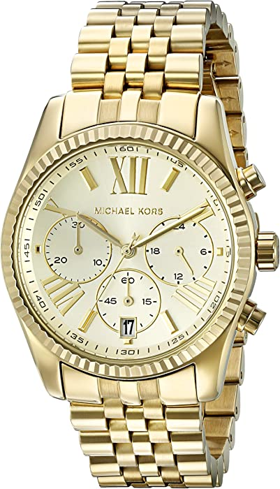 038c37101136 Amazon.com  Michael Kors Women s Lexington Gold-Tone Watch MK5556 ...