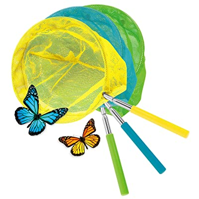 "Kovot Set of 3 Telescopic Butterfly Nets - 15"" - 34"": Toys & Games"