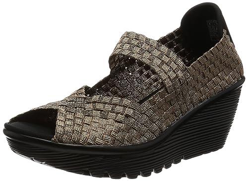 Skechers Cali Women's Parallel Silver Linings Platform Sandal, Bronze, ...