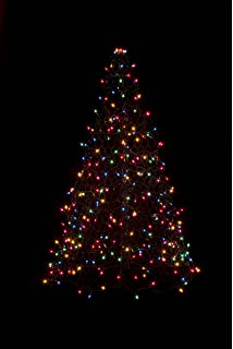 Outdoor Xmas Tree Lights Amazon pre lit led 5 ft folds flat collapsible outdoor indooroutdoor pre lit led artificial christmas tree with green frame workwithnaturefo