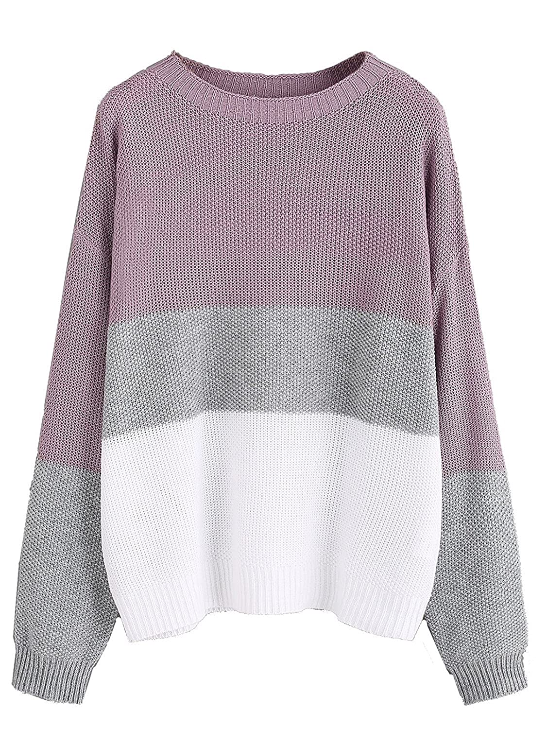 Milumia Women s Drop Shoulder Color Block Textured Jumper Casual Sweater at  Amazon Women s Clothing store  56659f0ea