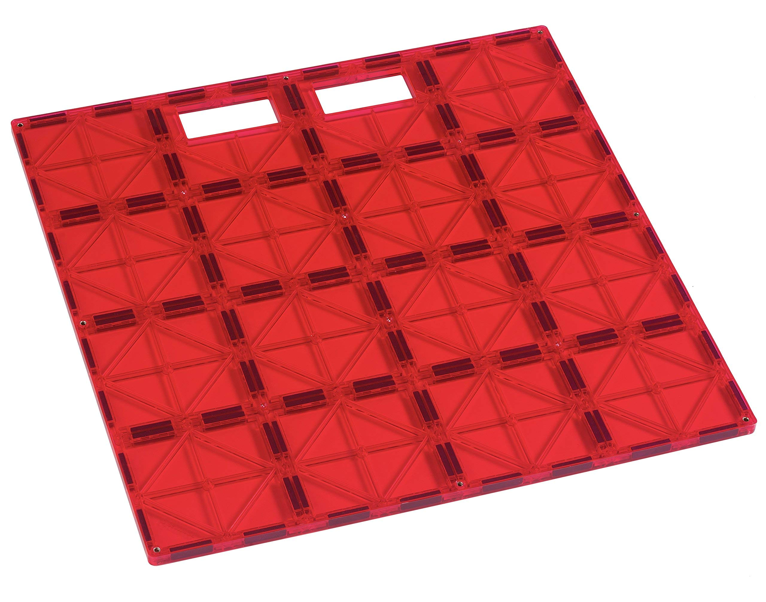 Playmags: Super Durable Building Stabilizer Tile 12x12 with Carrying Handle for Easy Play, Great add on to All Magnet Tiles Sets, Works with All Leading Brands (Colors May Vary)