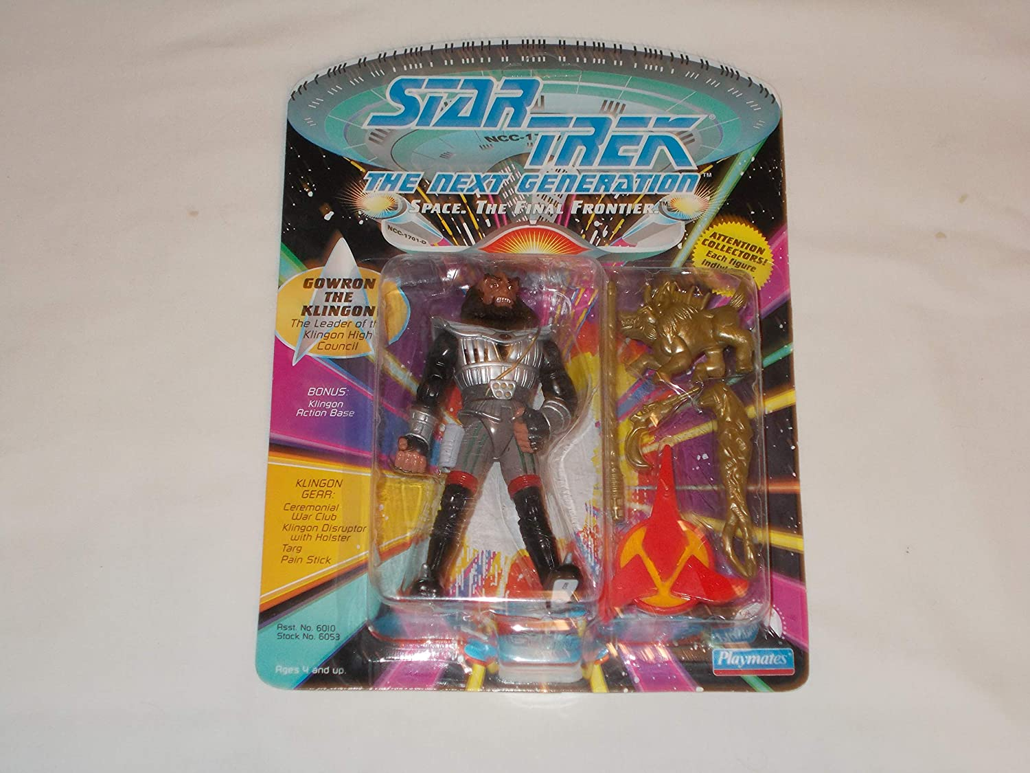 Action Figure Star Trek Next Generation Gowron the Klingon approx 4.5 inch